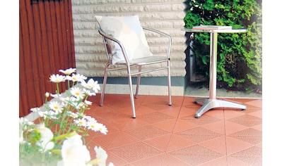 Bergo Flooring Terrassenplatten »Unique Terra«, Kunststofffliesen, einfach ineinanderstecken, 2 m² kaufen