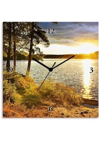Artland Wanduhr »Sonnenuntergang über See Algonquin Park« kaufen