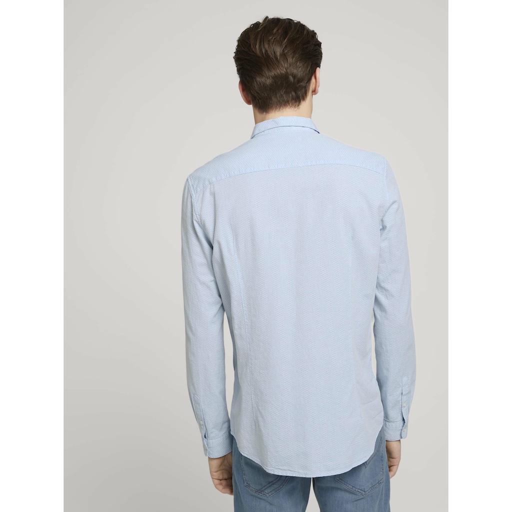 TOM TAILOR Denim Langarmhemd »strukturiertes Hemd«