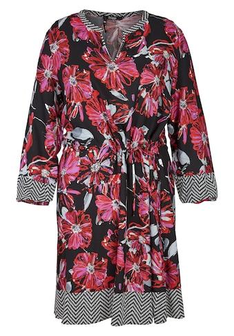 FRAPP Topmodisches Blusen - Kleid mit Allover - Mustermix Plus Size kaufen