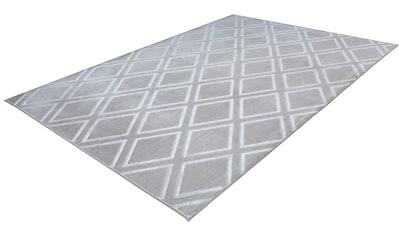 calo-deluxe Teppich »Latemar 400«, rechteckig, 7 mm Höhe, Hoch -Tief Struktur, Wohnzimmer kaufen