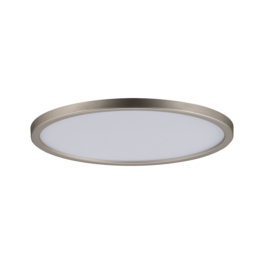 Paulmann LED Einbaustrahler »Panel Areo IP44 rund dimmbar 180mm 12W Nickel matt 3.000K«, Warmweiß
