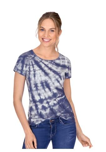 Trigema T-Shirt, mit modischem Batik-Druck kaufen