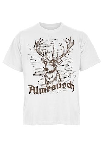 Der Trachtler T-Shirt mit rustikalem Hirsch-Print kaufen