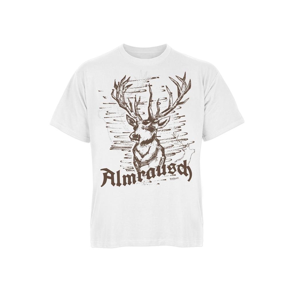 Der Trachtler T-Shirt mit rustikalem Hirsch-Print