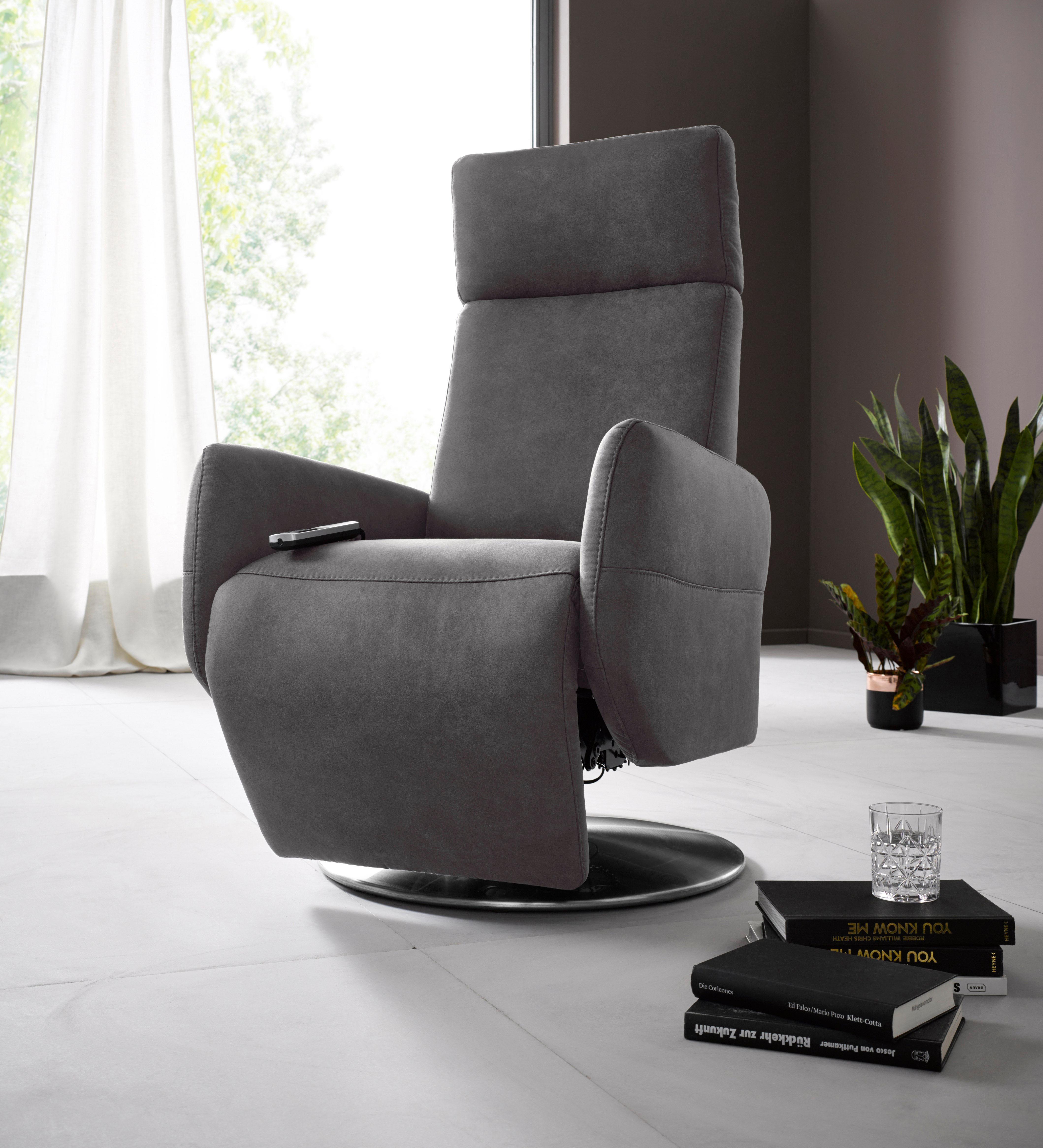 Places of Style Relaxsessel »Kobra« in Größe S, wahlweise mit Motor und Aufstehhilfe | Wohnzimmer > Sessel > Relaxsessel | Microfaser | PLACES OF STYLE