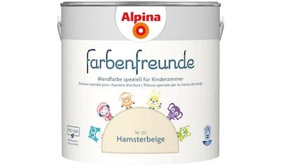 ALPINA Wand -  und Deckenfarbe »Farbenfreunde  -  Hamsterbeige (Nr. 02)«, 2,5 l kaufen