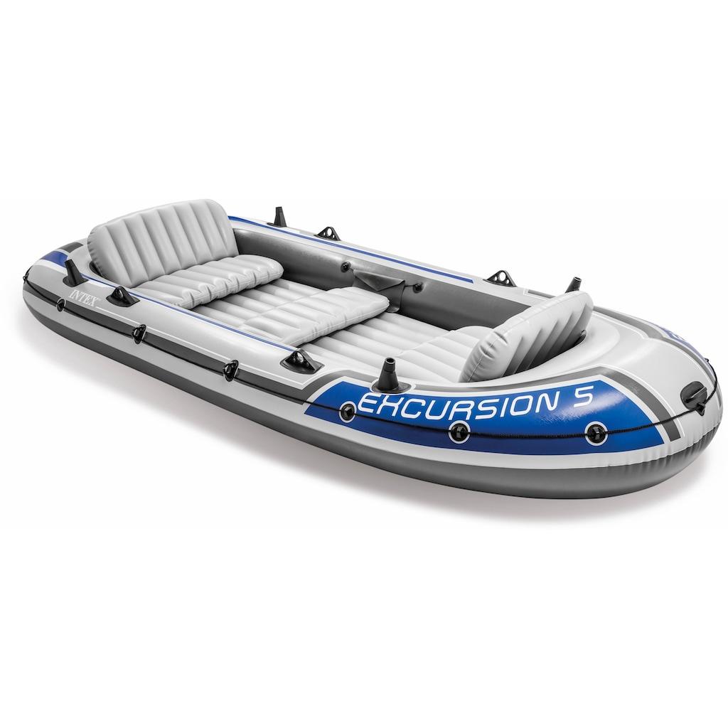 Intex Schlauchboot »Excursion 5«, (Set, mit 2 Paddeln und Luftpumpe)
