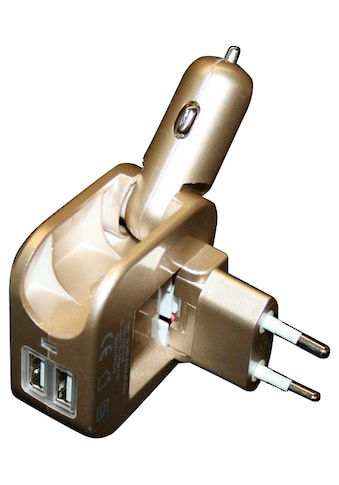 ROCCO Reisestecker »Universal - USB - Ladegerät«, Stromadapter für Kfz kaufen