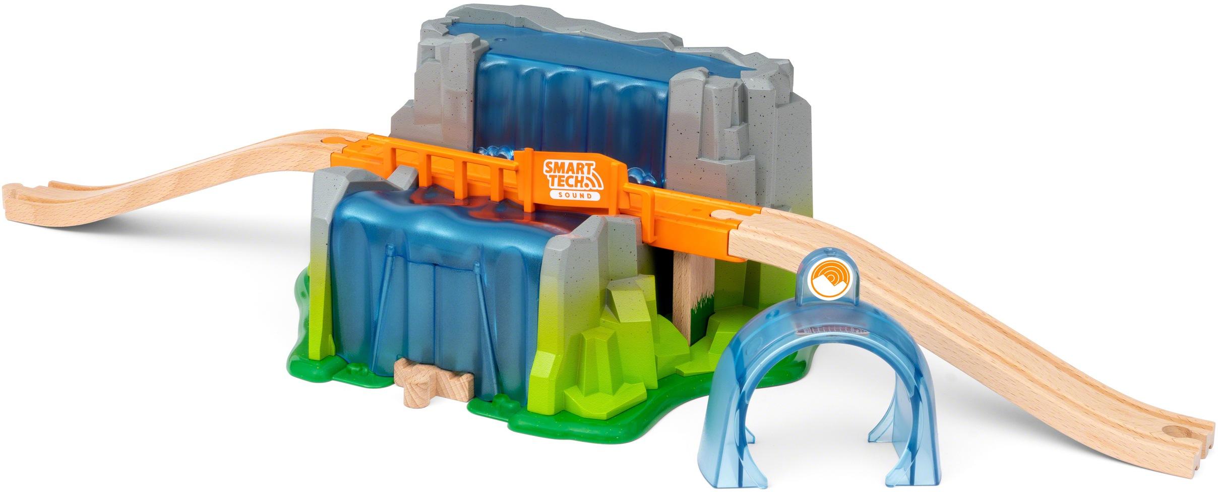BRIO Spielzeugeisenbahn-Tunnel Smart Tech Sound Wasserfall-Tunnel, für die Brio Eisenbahn bunt Kinder Kindereisenbahnen Autos, Modellbau