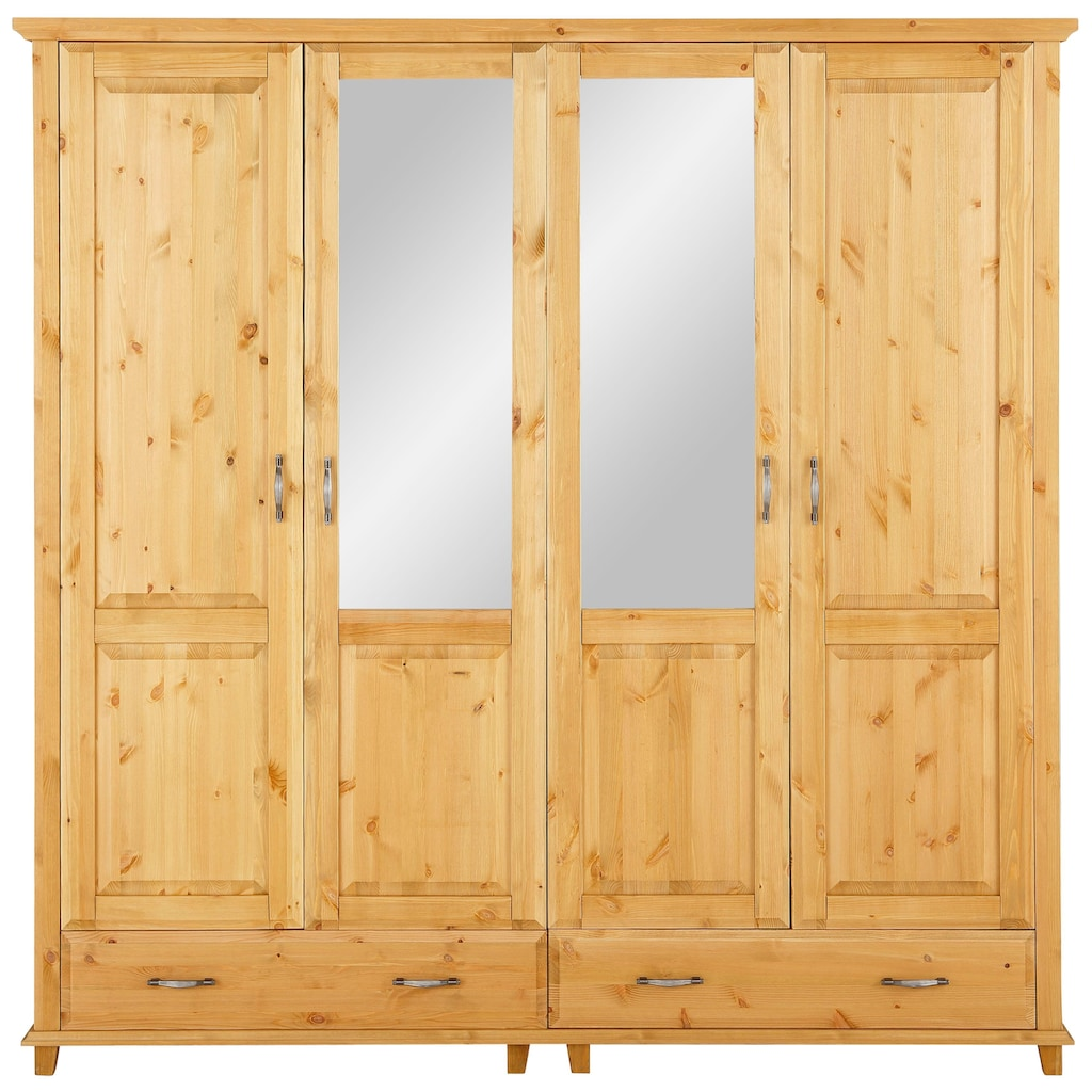 Home affaire Drehtürenschrank »Norrksen«, mit 3 Spiegel