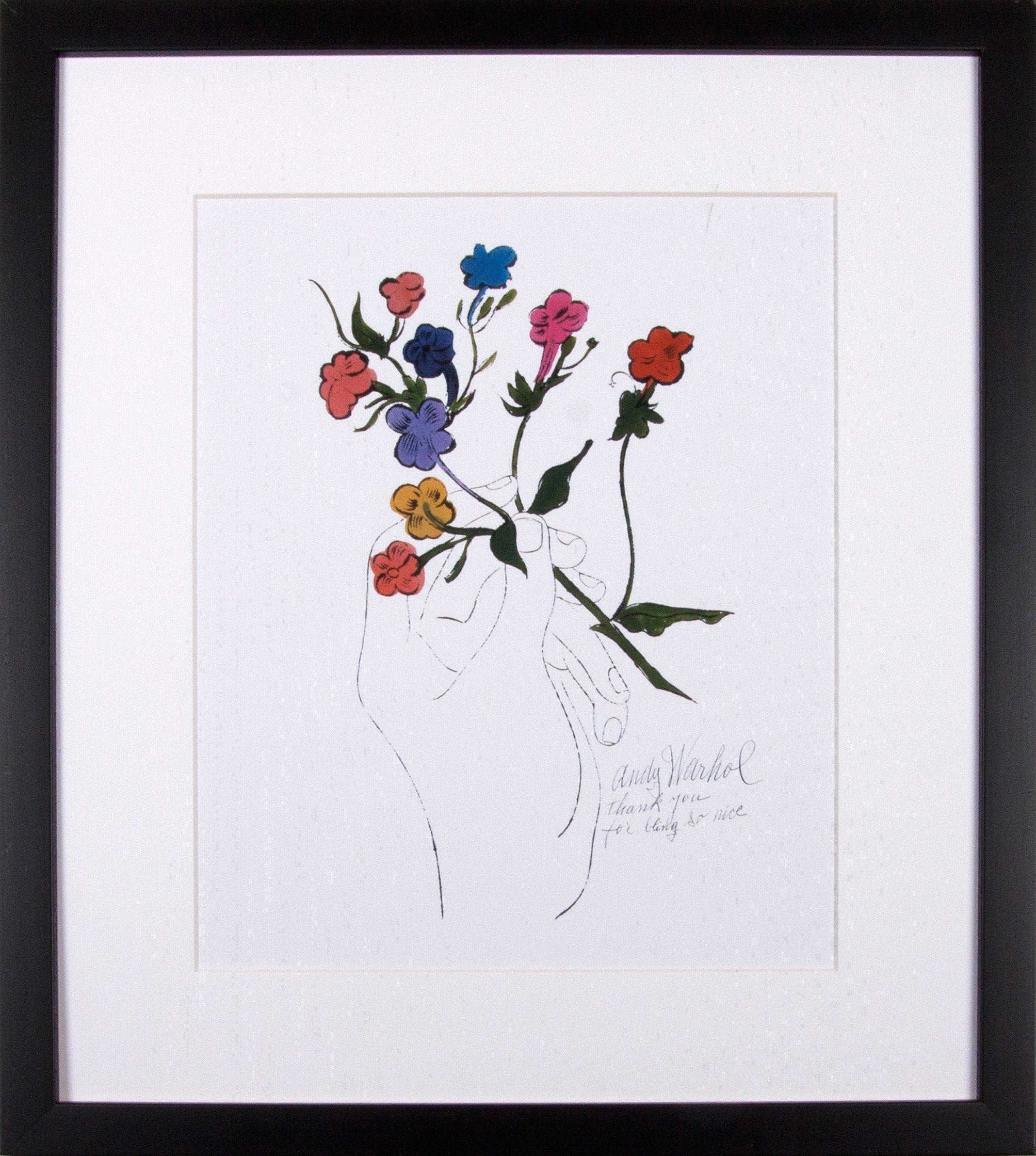 G&C gerahmter Kunstdruck Andy Warhol, Bunter Blütenstiel, 33/43