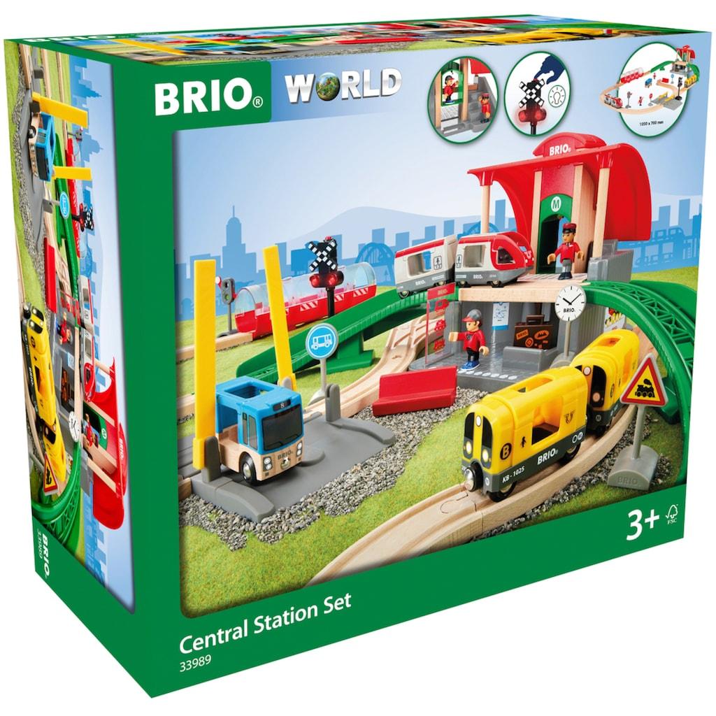 BRIO® Spielzeug-Eisenbahn »Großes City Bahnhof Set«, mit Soundeffekten; FSC® - schützt Wald - weltweit