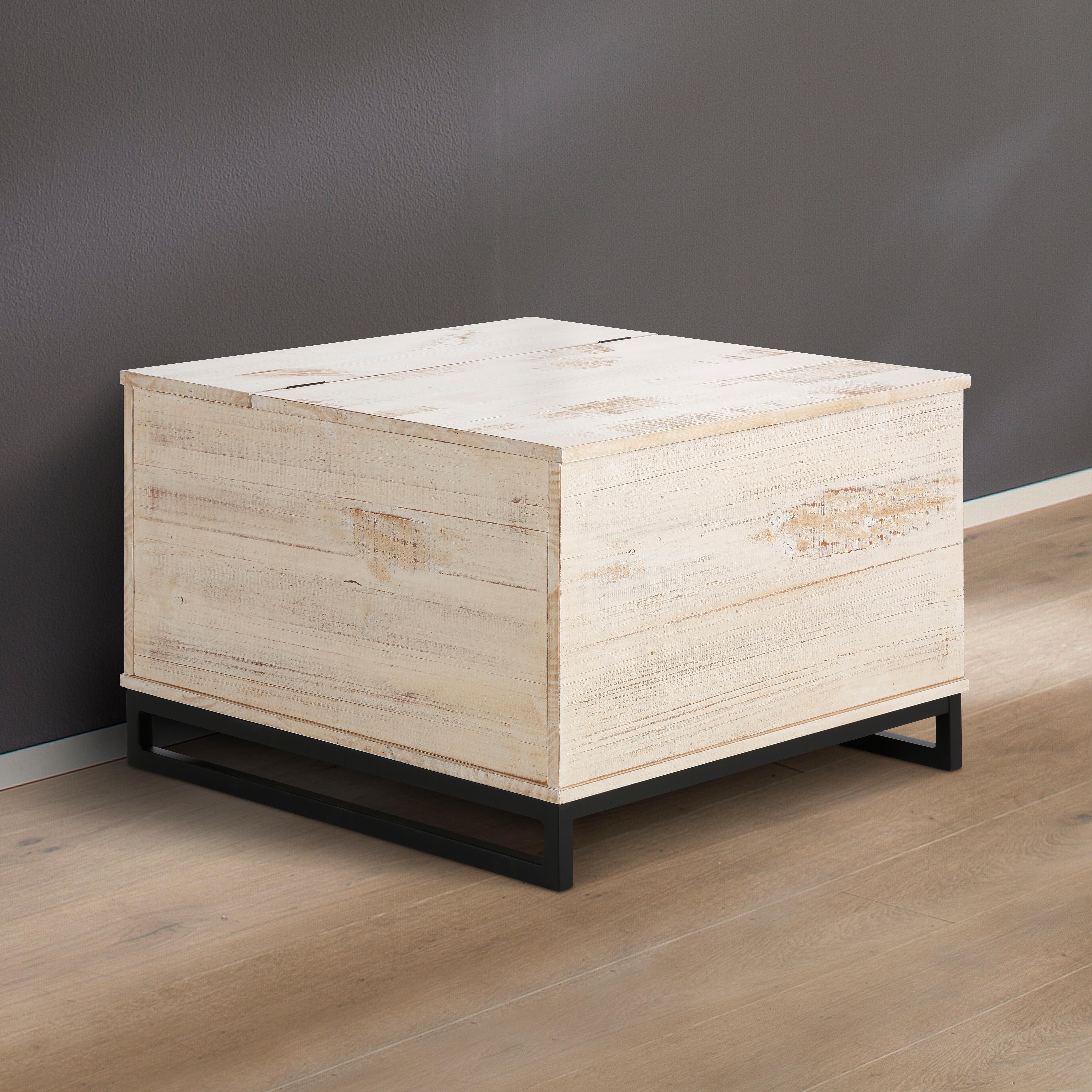 Home affaire Truhentisch Santo, Breite 75 cm. beige Couchtische eckig Tische