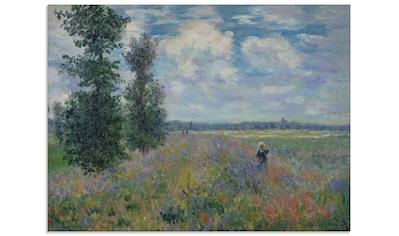 Artland Glasbild »Poppies (in der Nähe von Argenteuil)«, Felder, (1 St.) kaufen