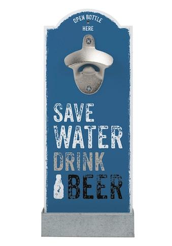 Contento Flaschenöffner »Save Water«, für die Wand kaufen