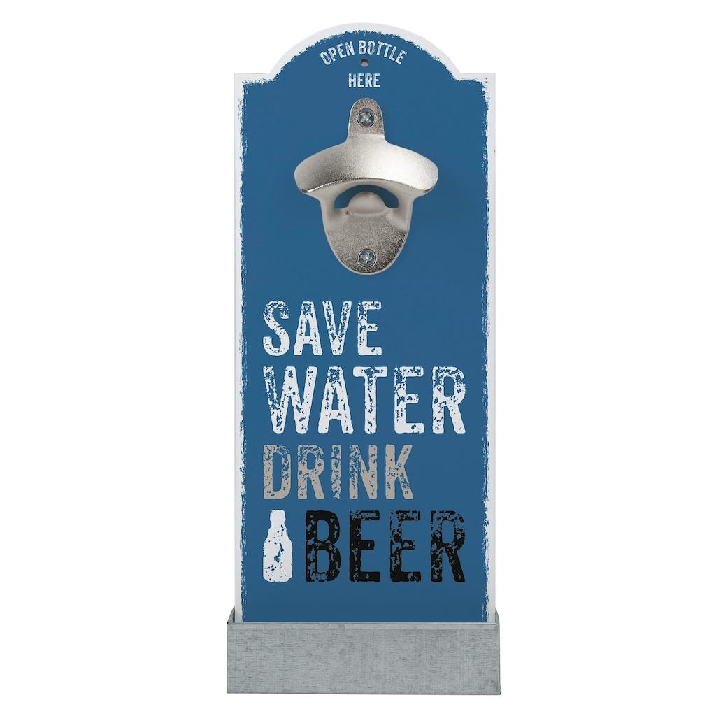 Contento Flaschenöffner »Save Water«, für die Wand