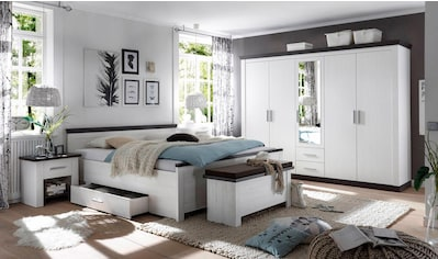 Home affaire Schlafzimmer-Set »Siena«, (Set, 4 tlg.), 5trg. Kleiderschrank, Bett 180 cm, 2 Nachttische kaufen