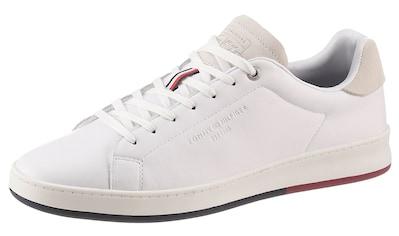 Tommy Hilfiger Sneaker »RETRO TENNIS CUPSOLE LEATHER«, mit Logoschriftzug kaufen