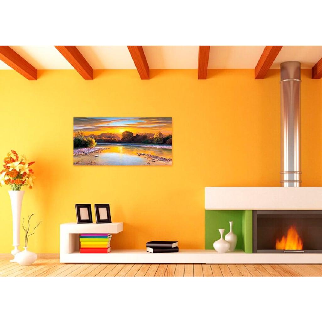 Home affaire Deco-Panel »A.GALASSO I Tramonto sulk Ticino«, 100/50 cm