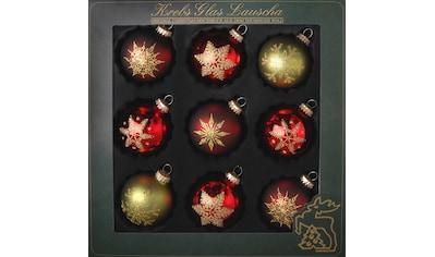 """Krebs Glas Lauscha Weihnachtsbaumkugel """"Schneeflocken"""" kaufen"""