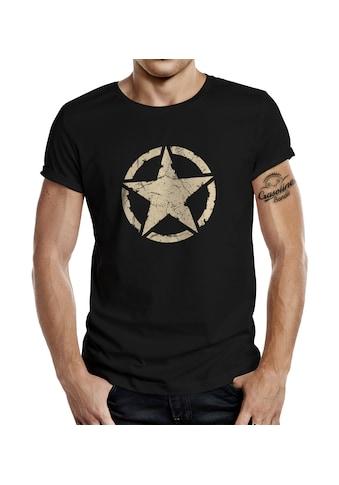 GASOLINE BANDIT® T - Shirt mit coolem Front - Print »US Army Vintage Star« kaufen