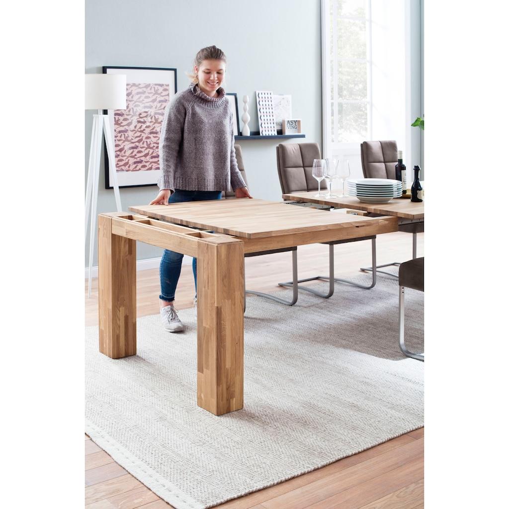 MCA furniture Esstisch »Nantes«, Massivholztisch ausziehbar mit Butterfly Auszug