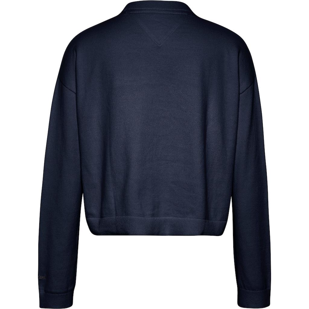 Tommy Jeans Strickjacke »TJW ESSENTIAL CARDIGAN«, mit kleiner Tommy Jeans Logo-Stickerrei am Ärmel