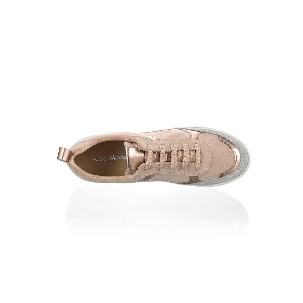 Alba Moda Sneaker, mit metallischen Einsätzen