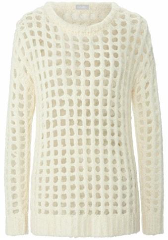 include Rundhalspullover »mit überschnittener Schulter«, mit großzügigen Mode-Maschen kaufen