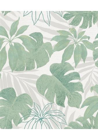 Marburg Vliestapete »beige-grün«, floral, restlos abziehbar kaufen