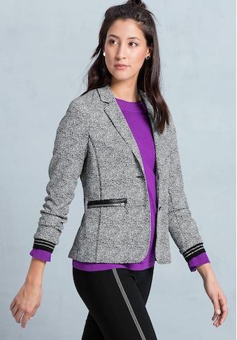 bianca Sweatblazer »KAY«, in cooler Tweed-Optik mit Fake-Lederapplikationen kaufen
