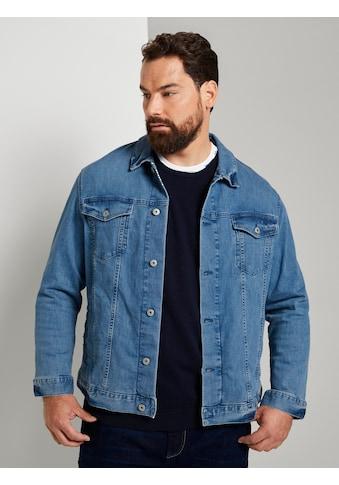 TOM TAILOR Men Plus Jeansjacke »Trucker Jeansjacke im Used - Look« kaufen