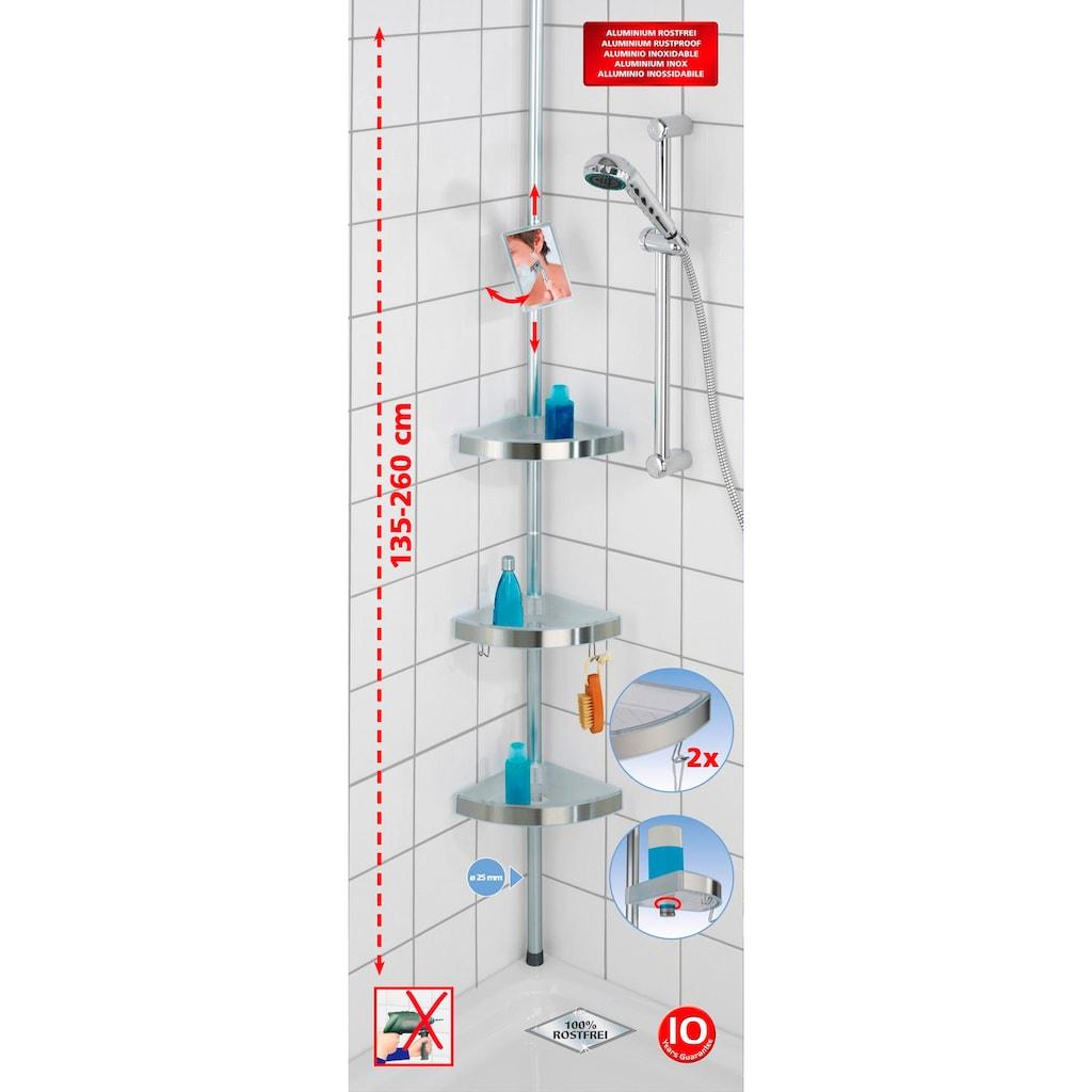 WENKO Duschablage »Premium«, mit 3 Ablagen und Spiegel