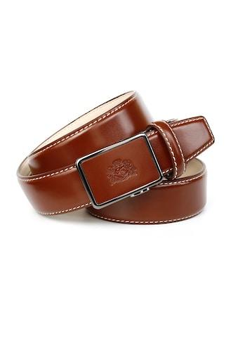 Anthoni Crown Ledergürtel, mit Kontrast Stitching kaufen