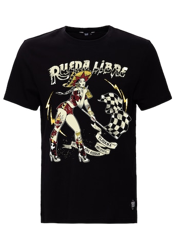 KingKerosin Print-Shirt »Rueda Libre«, mit Front Print kaufen