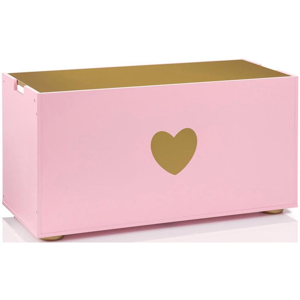 MUSTERKIND® Truhe »Tilia, rosé/gold«, mit Kreidetafel