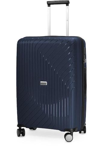 Hauptstadtkoffer Hartschalen-Trolley »TXL, 66 cm, dunkelblau«, 4 Rollen kaufen