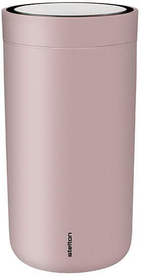 Stelton Thermobecher To Go Click, 200 ml rosa und Coffee to go Geschirr, Porzellan Tischaccessoires Haushaltswaren