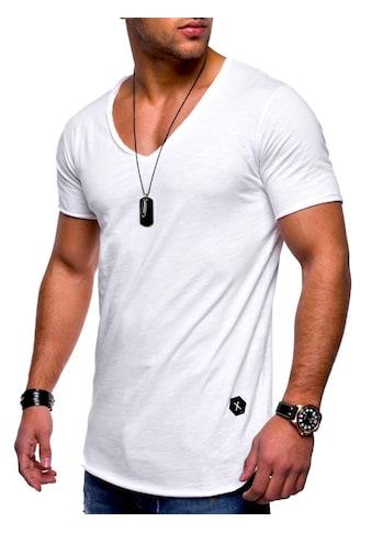 behype T-Shirt »NUKE«, mit V-Ausschnitt kaufen