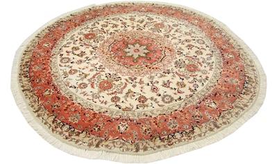 morgenland Wollteppich »Täbriz Teppich handgeknüpft beige«, rund, 7 mm Höhe kaufen