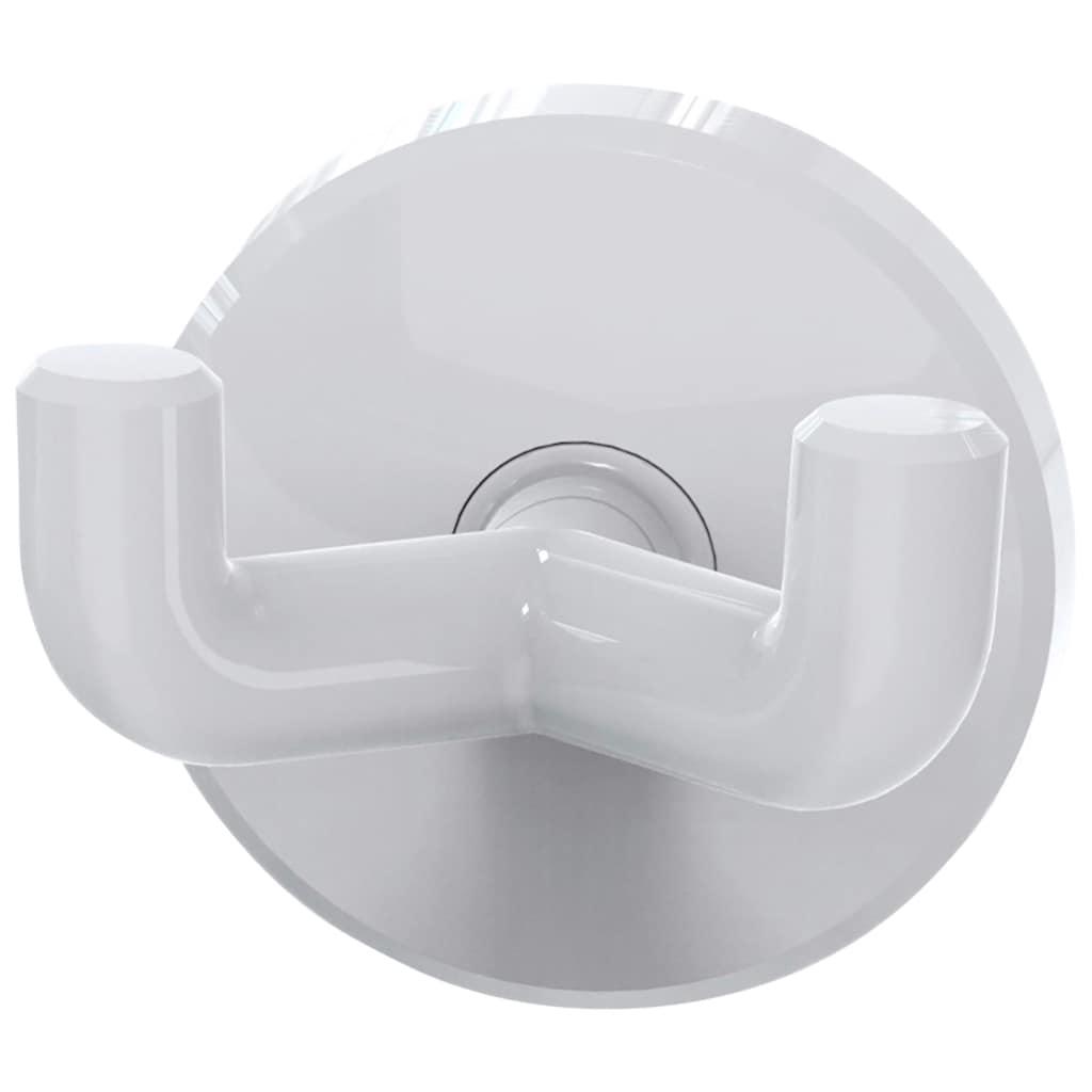 ERLAU Handtuchhaken »Doppelhaken HAk-2, stabiler Kunststoff«, Aus hochwertigem Kunststoff