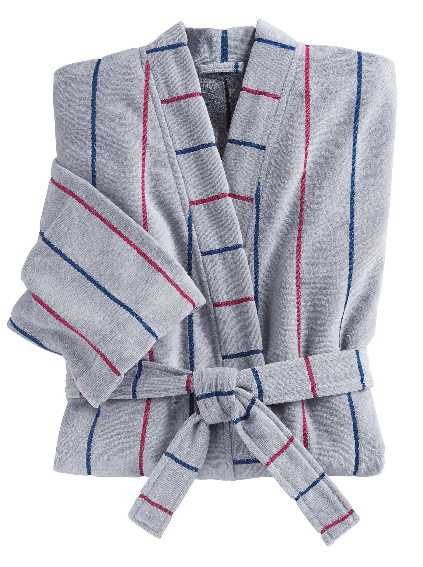 Bademantel Gamma Länge ca 130 cm | Bekleidung > Wäsche > Bademäntel | Grau | Velours | Gamma