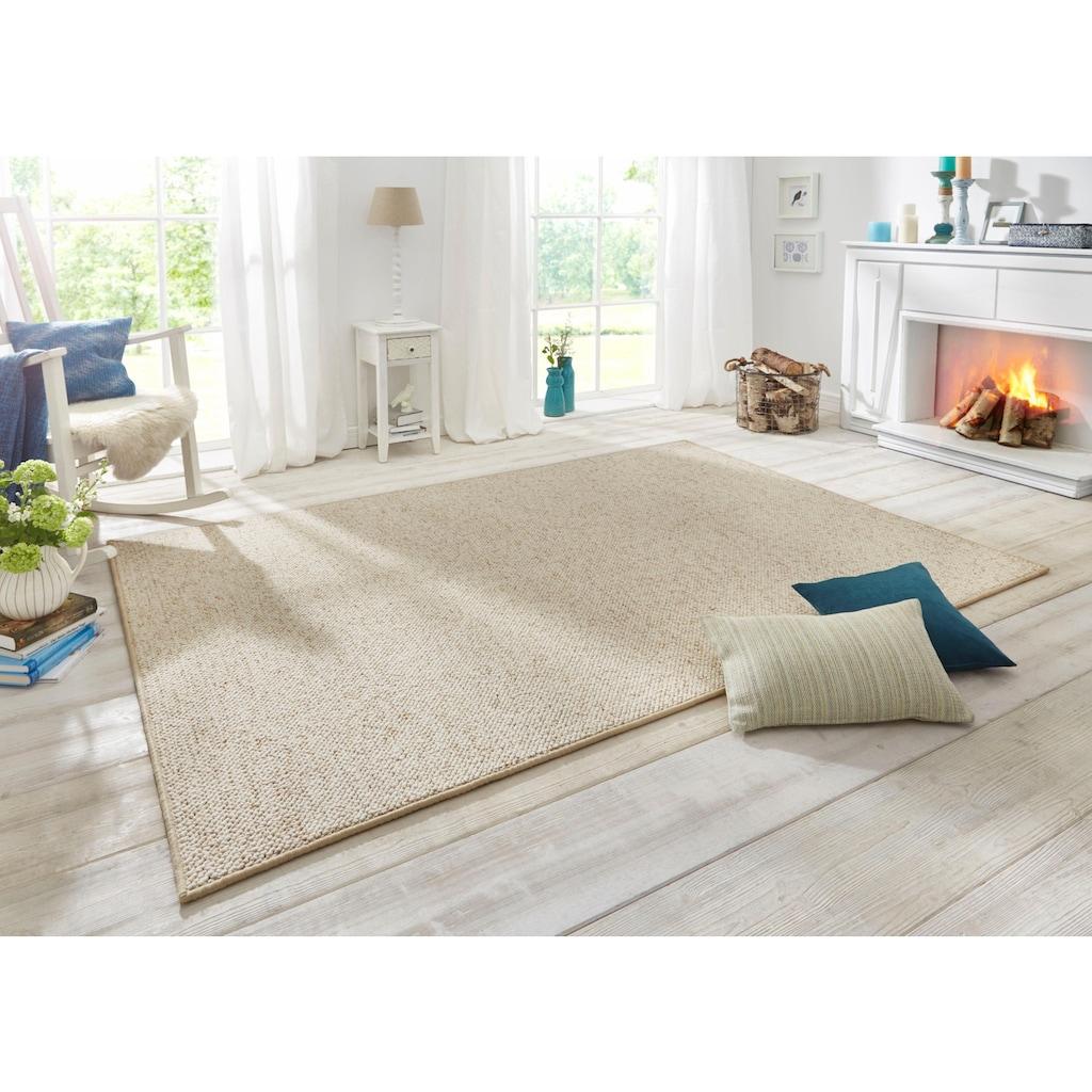 BT Carpet Teppich »Wolly 2«, rechteckig, 12 mm Höhe, Woll-Optik, Hoch-Tief-Effekt, Wohnzimmer