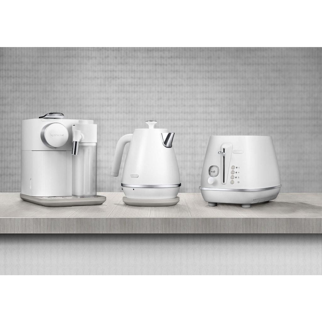 De'Longhi Toaster »Distinta Moments CTIN 2103.W – Sunrise White«, 2 kurze Schlitze, für 2 Scheiben, 900 W