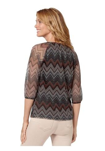 Ambria Shirt mit Zick - Zack - Muster kaufen