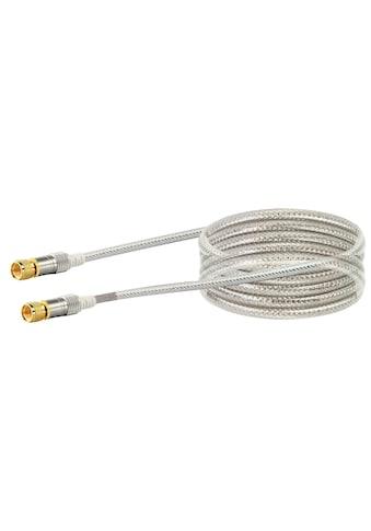 SCHWAIGER HDTV Satellitenkabel, SAT Kabel 4 - fach geschirmt, F - Stecker »in verschiedenen Längen« kaufen