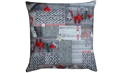 HOSSNER - HOMECOLLECTION Kissenhülle »Koro«, (2 St.), mit weihnachtlichem Motiv kaufen