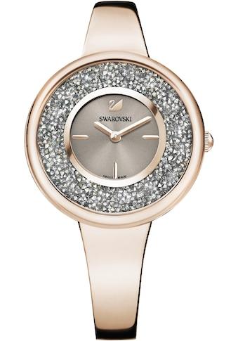 Swarovski Schweizer Uhr »Crystalline Pure Uhr, Metallarmband, Farbton Champagne Gold, 5376077« kaufen
