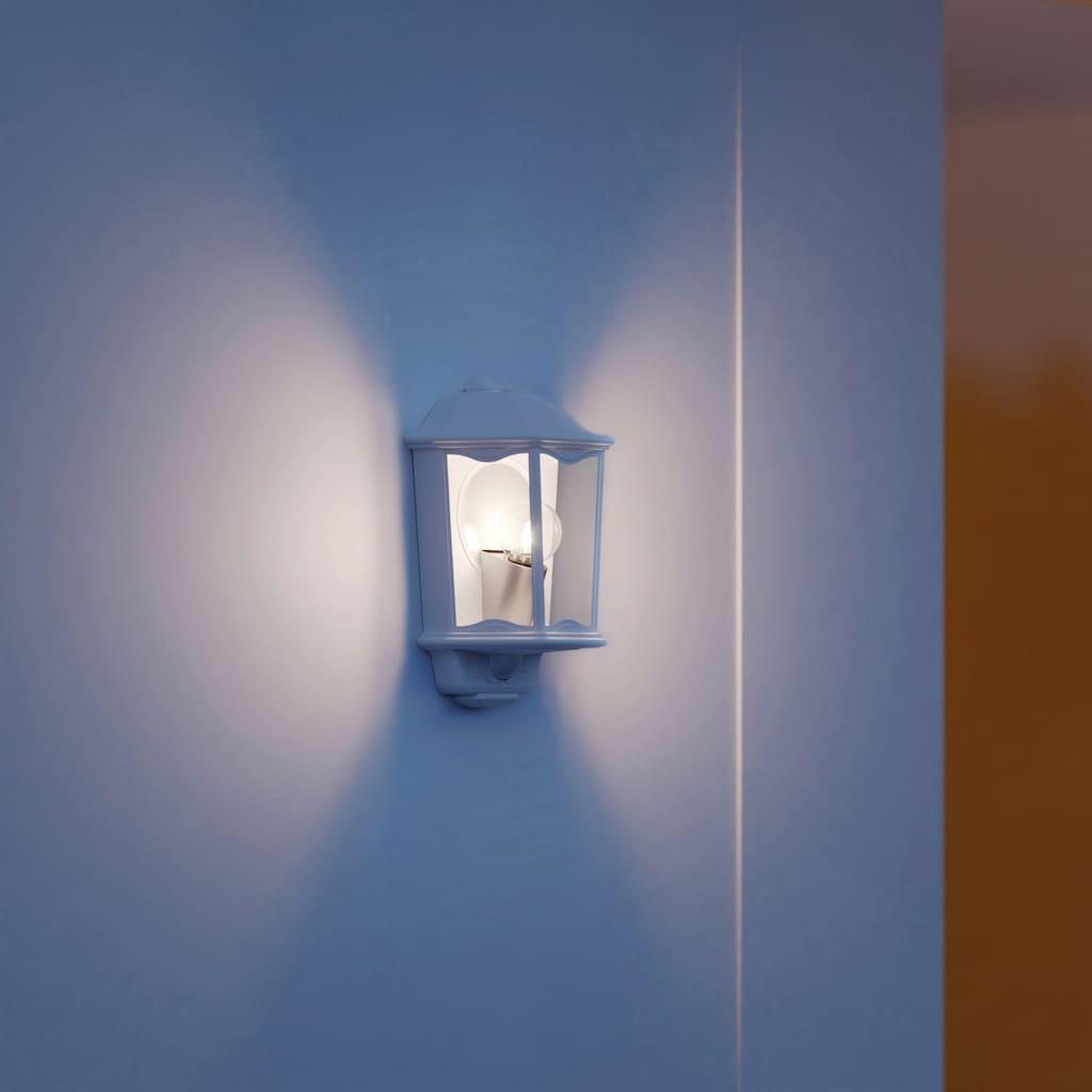steinel Außen-Wandleuchte »L 190 S«, E27, 1 St., 180° Erfassungsbereich, max. 12 m Reichweite, Zeiteinstellung von 5 Sek. - 15 Min., Softlichtstart, optionales 4h Dauerlicht, regenwassergeschützt, Edelstahl Designblende